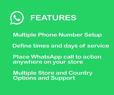 Contact Us via Whatsapp Plugin Features